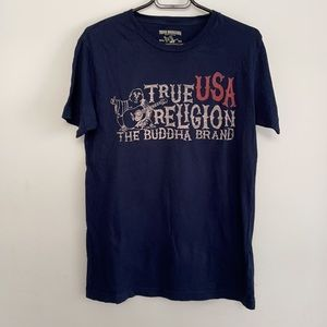 Men's True Religion Navy T-Shirt Size S